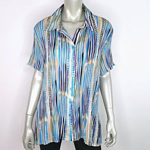 Essentials by Milano Plus Size 2X Button Up Top